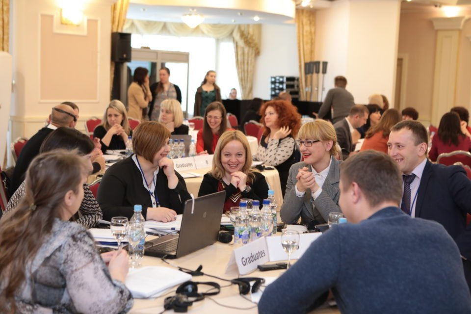 """Graduates of the Judicial Administration Certificate Program during the reunion """"Looking Back and Looking Forward"""" on March 22, 2017 in Kyiv. PHOTO: USAID New Justice Program"""