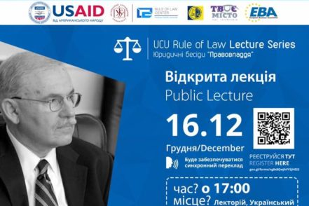 DR. BOHDAN VITVITSKY CONDUCTS TWELFTH RULE OF LAW LECTURE AT UKRAINIAN CATHOLIC UNIVERSITY