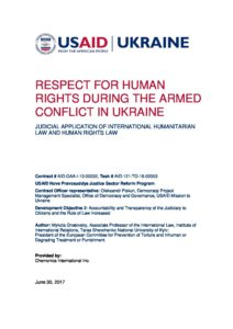 Report_Respect for HR in Conflict_Gnatovsky_2017_ENG