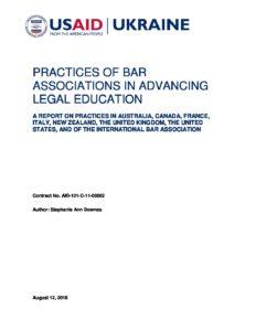 4_FAIR_S.Downes_Report on Bar Associaton Best Legal Education Practices_Sep 15, 2016_final